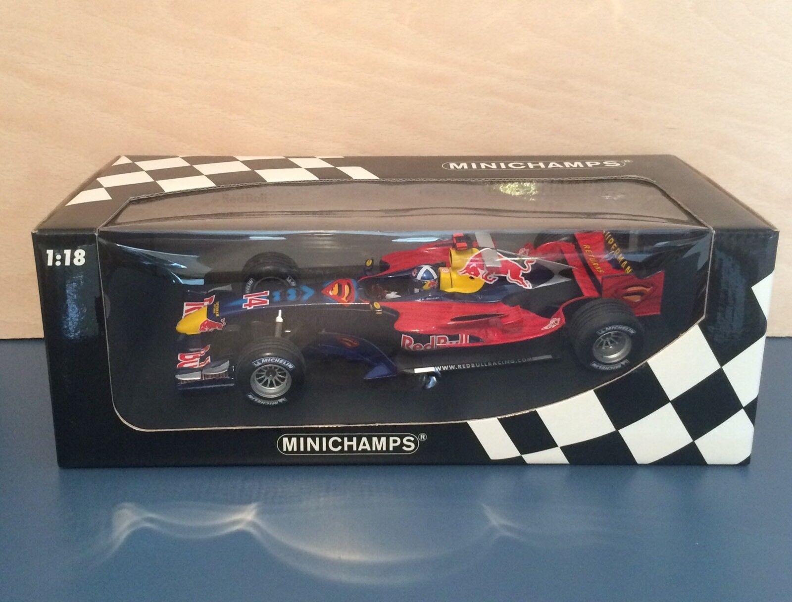 1 18 Pauls Model Art DAVID COULTHARD SUPERMAN Monaco 2006, Red Bull RB2
