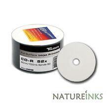 50 Traxdata Toda Carilla Imprimible Blanco CD-R 52x discos 700MB Ritek CDR
