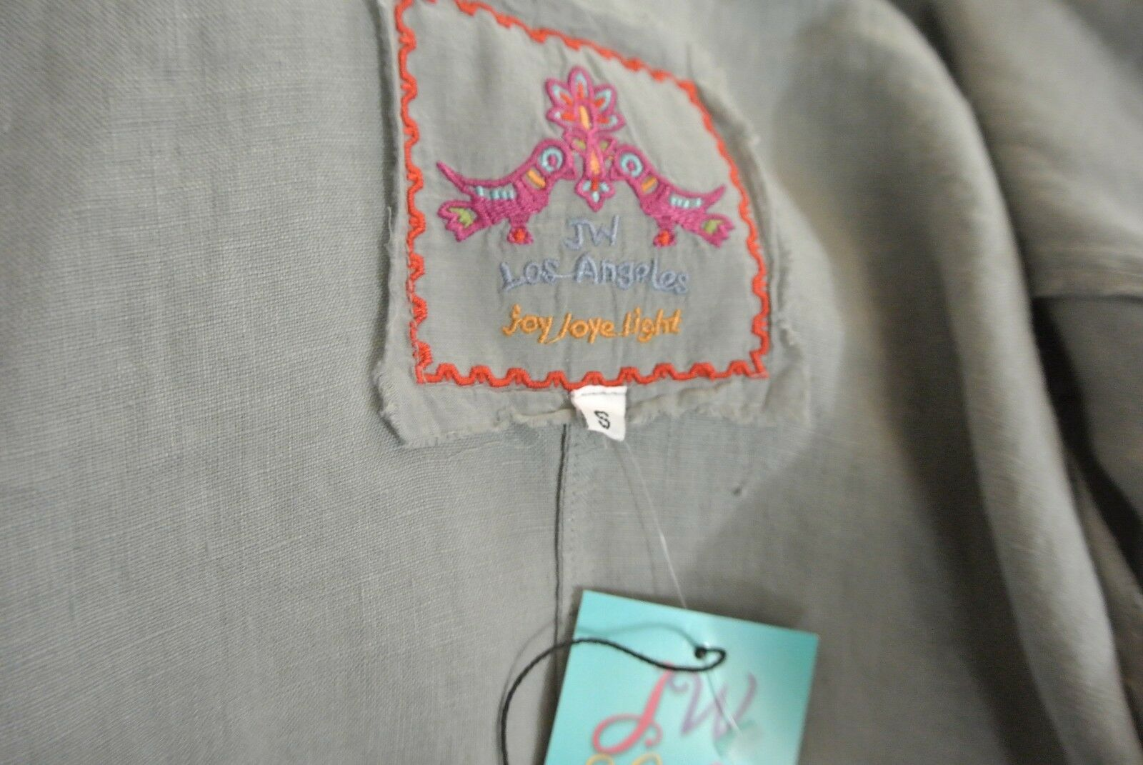 Johnny Was 100% Linen Cardigan Top S grau/Multi-Farbe EmbroideROT EmbroideROT EmbroideROT Boho Chic NWT d3b042