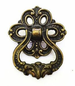 french provincial brass antique hardware ring drawer pull cabinet