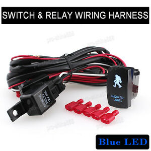 Laser sasquatch lights switch car 4x4 offroad bar blue light relay image is loading laser sasquatch lights switch car 4x4 offroad bar cheapraybanclubmaster Gallery