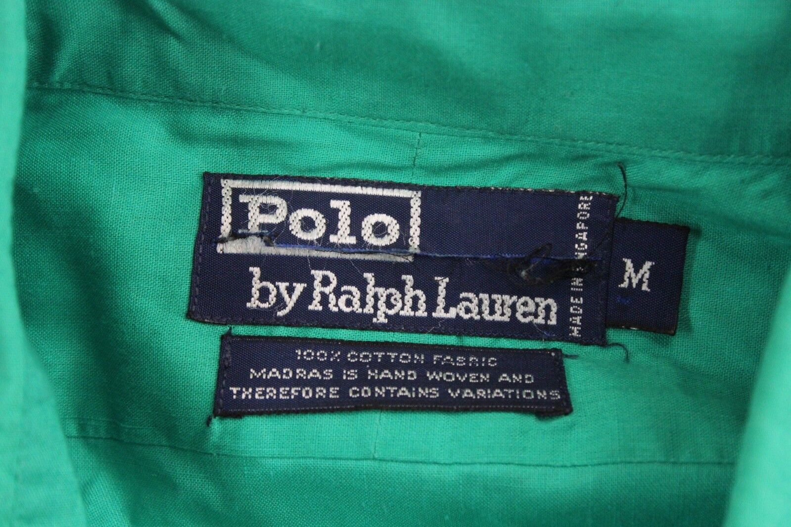 VTG 80's 90's Polo Ralph Lauren Happy Green Butto… - image 5