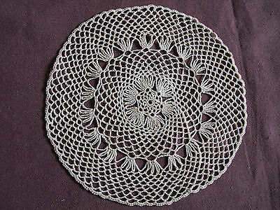 #1081 Beautiful Vintage Hand Made Doily 13cm(5'')