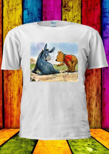 Disney Winnie The Pooh Eeyore Cute T-shirt Vest Tank Top Men Women Unisex 395