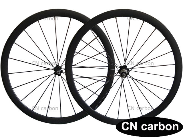 U Shape 38mm clincher carbon  fiber bike wheelset 23mm,25mm rim width  online retailers