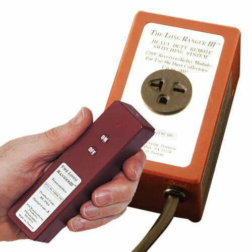 220V Dust Collector Remote Control Transmitter /& Receiver w// 5-foot Power Cord