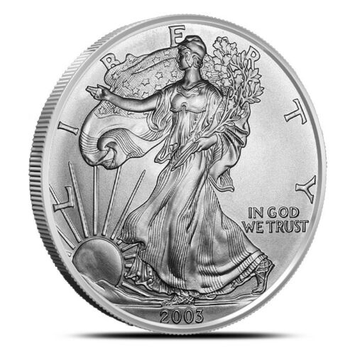 2004 $1 US American Silver Eagle UNC One Ounce FINE Silver Round Coin
