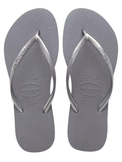 d40af929cf59f Havaianas Ladies Flip Flops Slim Beach Sandals All Size Black White ...