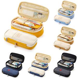 Student-Pencil-Case-Zipper-Pen-Bag-School-amp-Office-Stationery-Large-Capacity