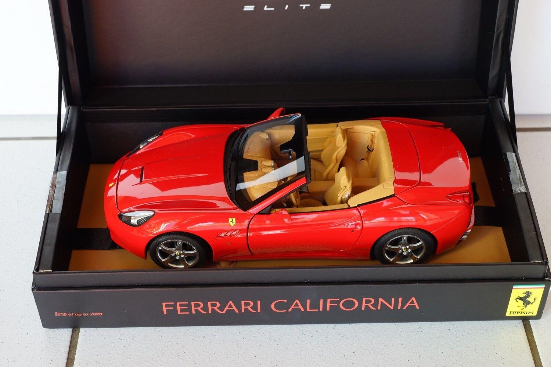 Hot Wheels Super elite 1 18, Ferrari California, rojo, elite Special, nuevo + embalaje original, MIB