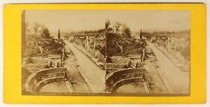 Pompei-Italia-Foto-Stereo-PL55L3n2-Vintage-Albumina-c1870