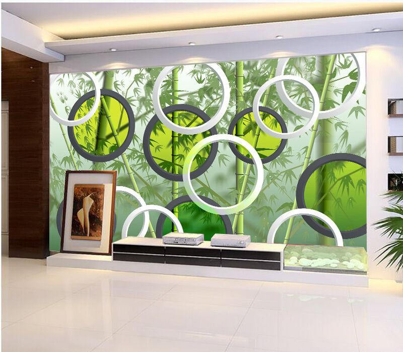 3D Bambus, Kreis 678 Fototapeten Wandbild Fototapete BildTapete Familie DE