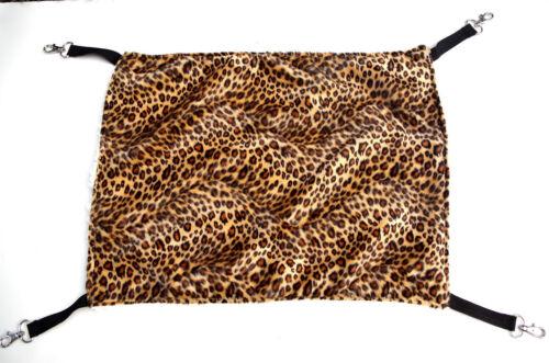 Leopard Print Pet Rat Hammock Rabbit Ferret Cage Hammock Small Dog Cat Bed Cover