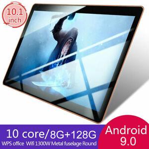10.1''Tableta Android 9.0 WIFI/4G-LTE 10 core 8+128G 16MP Cámara Tablet PC 2 SIM
