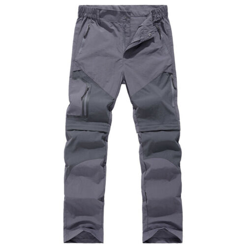 Mens Quick Dry Combat Pants Shorts Detachable Outdoor Climbing Hiking Trousers