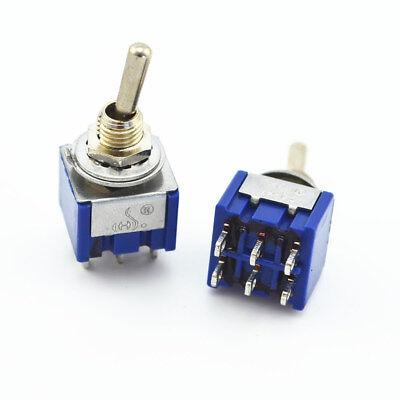 125V // 6A 3 Pin ON//ON 1xUm 2x Mini-Kippschalter ON//OFF