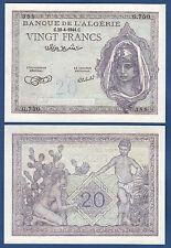 Argelia/Algeria 20 francos 1944 UNC p.92 a