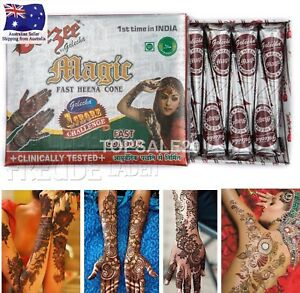 Golecha Brown Color Instant Henna Cones Temporary Tattoo Body Art