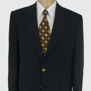 40 R Brooks Brothers Solid Schwarz Wolle 3 Knöpfe Herrenjacke Sport Mantel Ein Kunststoffkoffer Ist FüR Die Sichere Lagerung Kompartimentiert