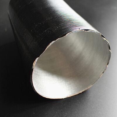 Aluminium Hot Air Ducting Flexible Heat Resistant Car Engine Pipe 38mm X 500 mm