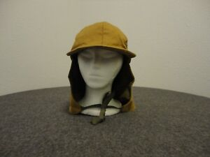 VINTAGE DUXBAK HUNTING TAN HAT WITH CORDUROY NECK EAR COVER AND ... 981ce967a34