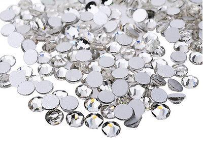 A+ Grade Glass Crystal Multiple facets Flat Back Rhinestones