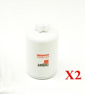 FS19594 Fleetguard Fuel Filter Water Separator Pack of 2