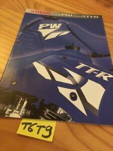 Yamaha PW Peewee 50 80 TT-R 90 125 TTR prospectus moto brochure prospekt catalog