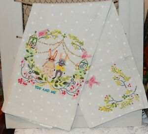 Image Is Loading Anthropologie Quill Amp Fox Embroidered Kitchen Tea Towel