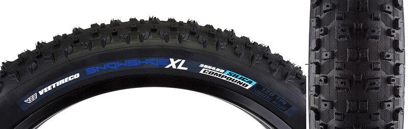 Vee Tire & Rubber Zapatos para Nieve XL Neumático 26x4.8 Bk Plegable Sílice