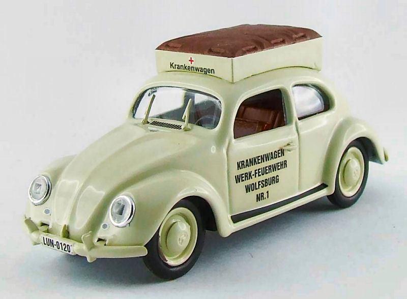 Volkswagen VW Beetle Ambulanza Pompieri Di Wolsburg 1950 1 1 1 43 Model RIO4403 RIO 6c3ff9