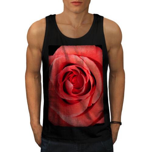 Wellcoda Rose Art Picture Nature Mens Tank Top Nice Active Sports Shirt