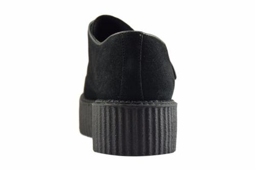 Acier Sol Chaussures en daim noir creepers Haute Semelle Buckle Casual Rock Sc301Z4