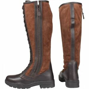 Devon Lining Durable Horka Equestrian Leather Long Unisex Boot Brown Seed Fur Long aXqqExA