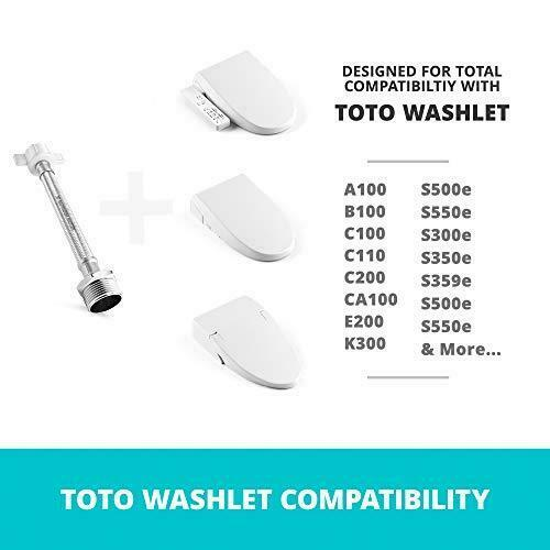 """Toilet Hose Extension 6"""" for TOTO7//8 Male To 7//8 Female Stainless Steel"""