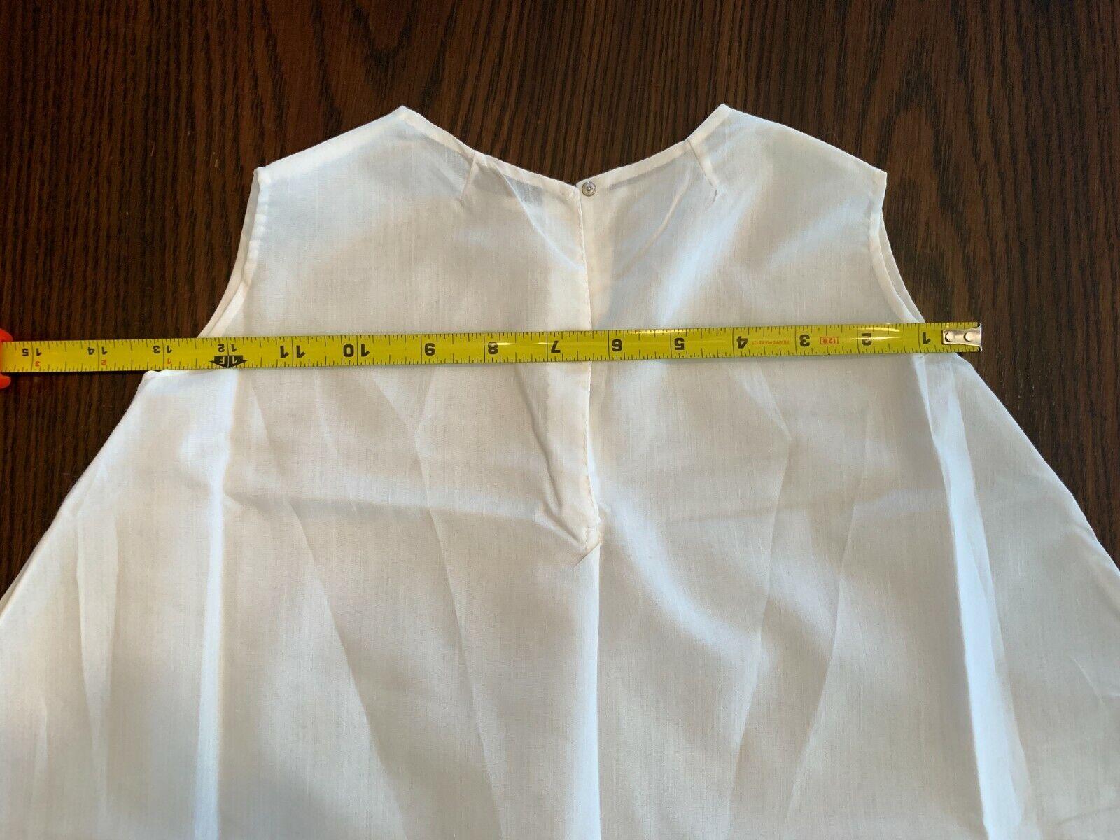 Vintage White Cotton Baby gown slip underdress sl… - image 6