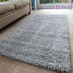 Rugs Grey Shuggy Rug Soft Fluffy Carpet