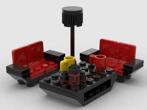 LEGO Living Room Furniture Couch Sofa Coffee Table Floor Lamp Cups Accent Jars