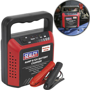 Sealey-Car-Van-Motorbike-Compact-Battery-Charger-6-12V-4Amp-230V-Automatic-Mower