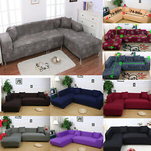 Bon Details About 13# 2pcs For 2+3 3+3 Seater Sectional L Shape Corner Sofa  Slipcover Couch Cover