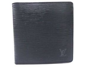 fe881c437ccf 100% Auth LOUIS VUITTON Epi Leather Bifold Wallet Marco Black Z871 ...