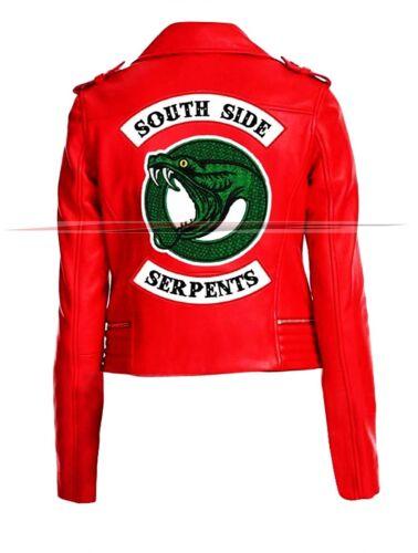 Women/'s  Riverdale Southside Serpents jughead jones Leather Biker Jacket