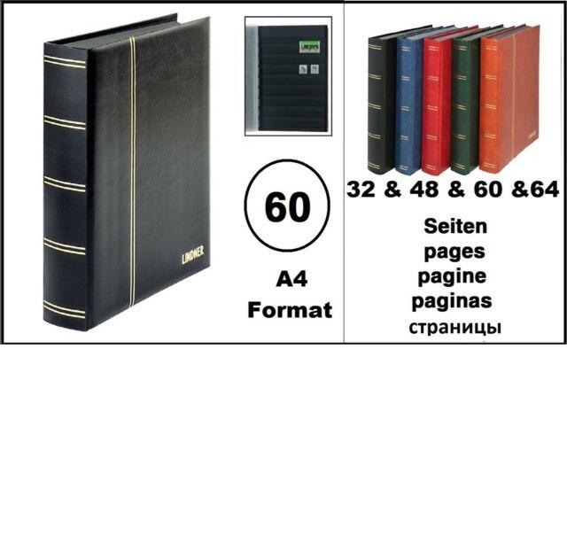 Classificatore Album Francobolli Album Nero 60 Nero Pagine Lindner 1169S-S