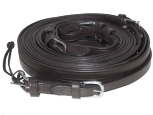 IDEAL EQUESTRIAN LUXURY LEATHER BROWN SINGLE REINS
