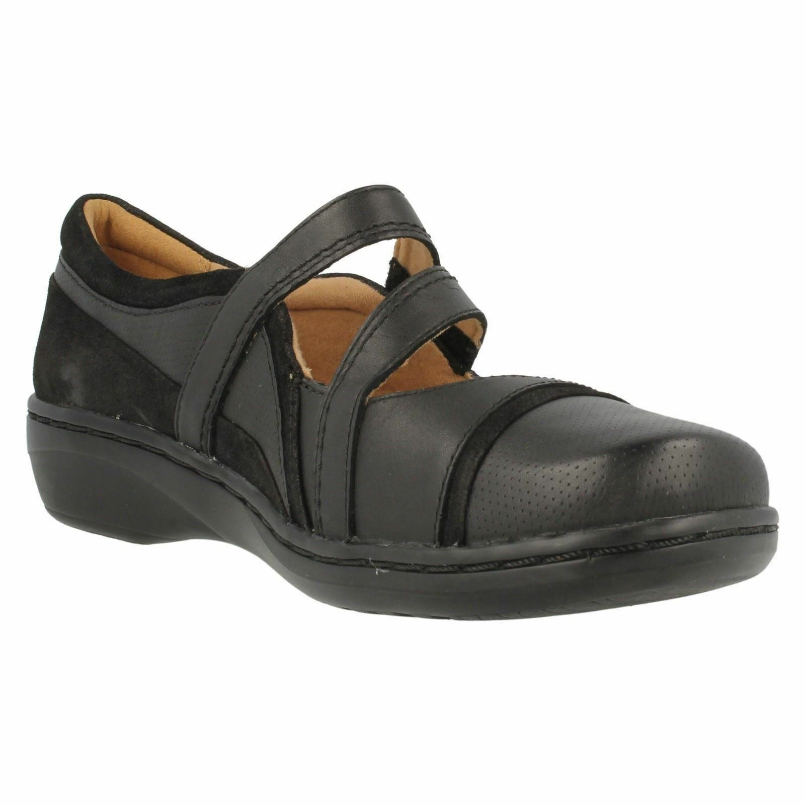 EVIANNA CROWN LADIES LIGHT CLARKS LEATHER MARY JANE LIGHT LADIES WEIGHT RIPTAPE CASUAL SHOES 75f0ee