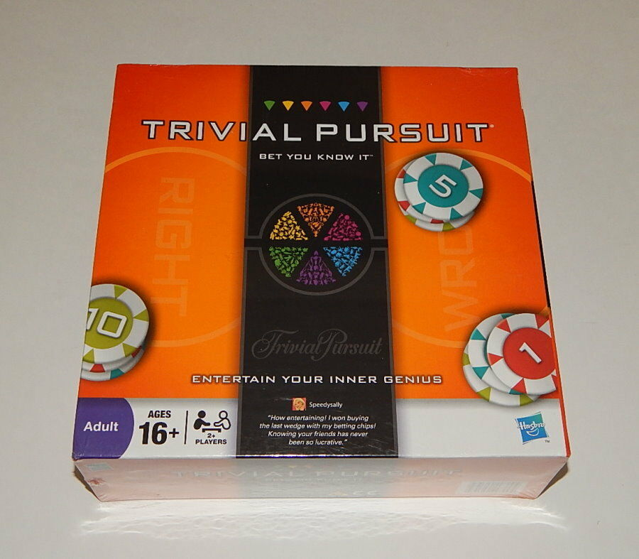 TRIVIAL PURSUIT Bet You Know It Edition SEALED R10799