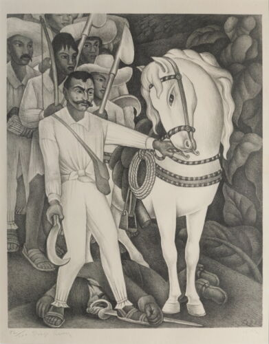 Diego Rivera The Campesino Leader Zapata Giclee Canvas Print Paintings Poster Re