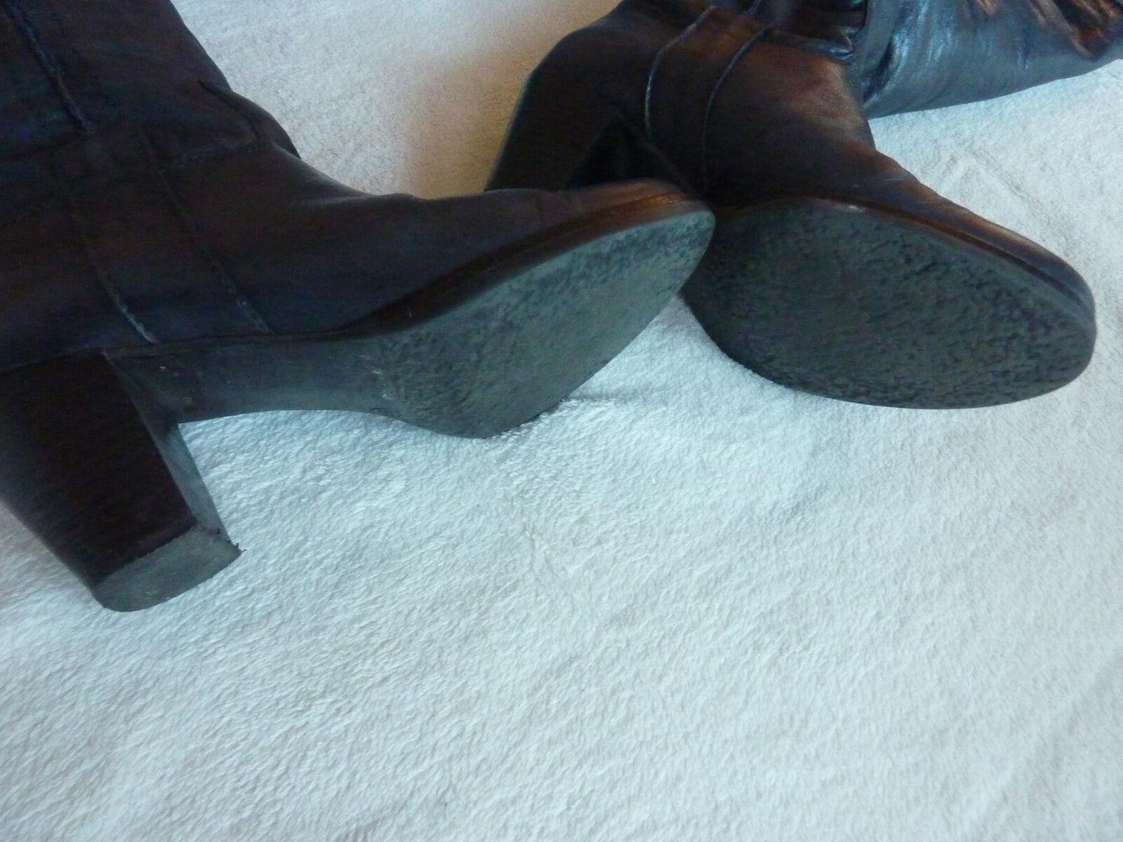 Stiefel hoch anthrazit Leder Damen Gr. 39