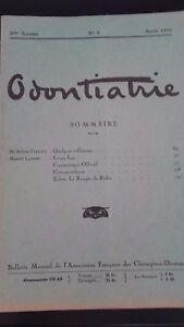 Rivista-Mensile-Odontiatrie-N-8-2-Eme-Anni-1925-ABE
