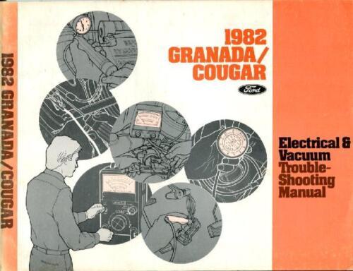 1982 FORD MERCURY GRANADA COUGAR SHOP MANUAL ELECTRICAL SERVICE REPAIR BOOK